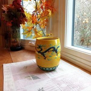 Dragon Cermac Vase, Vintage 1970s
